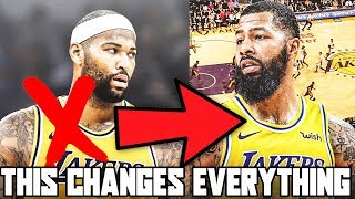 DEMARCUS COUSINS CUT BY LAKERS! LOS ANGELES SIGNS MARKIEFF MORRIS