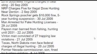 Hunting Accidents and Violation List (very long list)