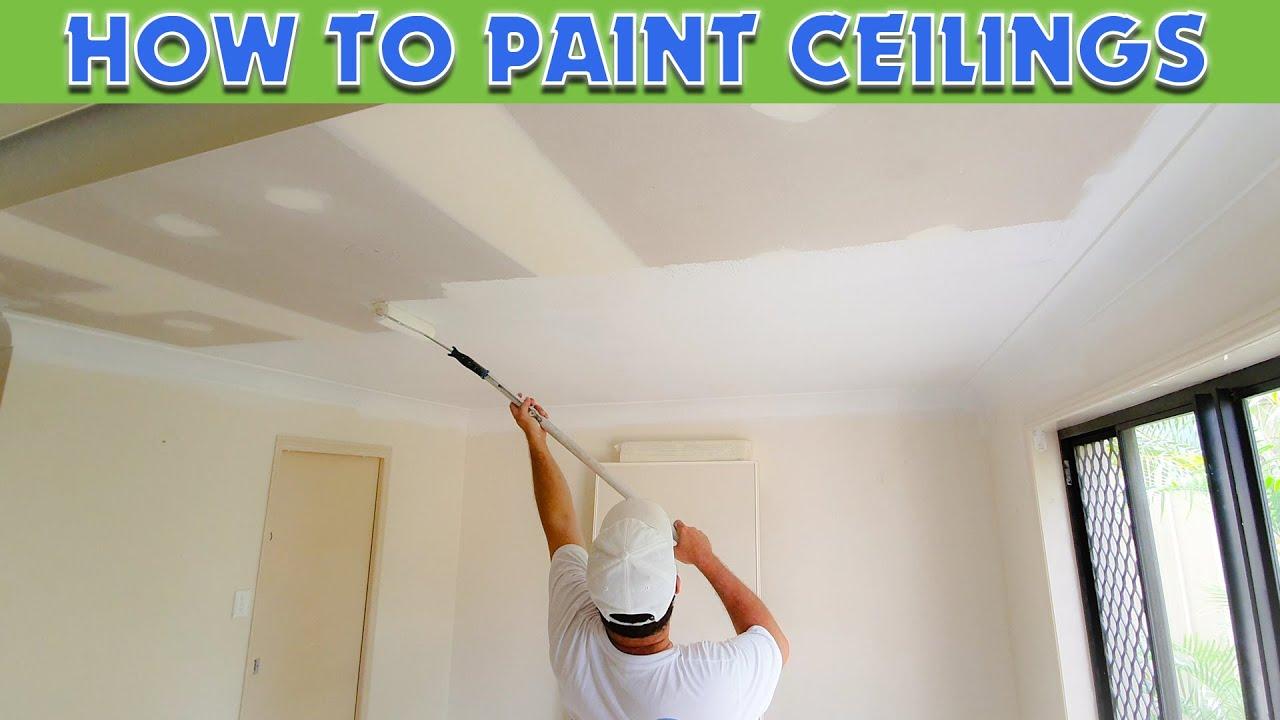 Paint A Fresh Drywall Ceiling Fast