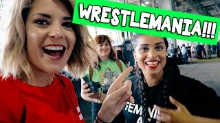 LOSING OUR MINDS AT WRESTLEMANIA // Grace Helbig