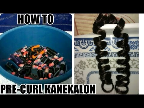 How To Pre-curl Outre Kanekalon Hair For Crochet Braids