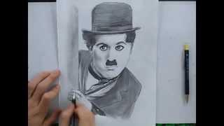 Speed Drawing portrait de Charlie Chaplin