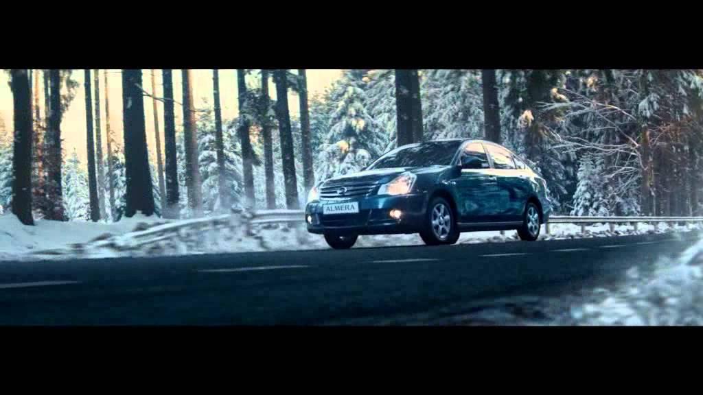 Защитная сетка переднего бампера Nissan Almera, 2014-н.в. (russ .