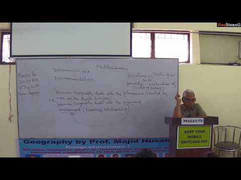 Determinism in Geography | Prof. Majid Husain | Geography Preparation | UPSC Preparation
