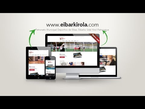 Nueva web del Patronato Municipal de deportes de Eibar