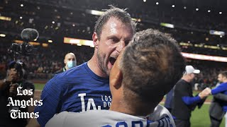 Dodgers players talk beating the Giants, moving on to the NLCS
