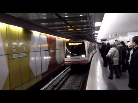 """U4 - DT4 - Einfahrt in Station Jungfernstieg - 1. Tag """"Schnupperfahrten"""" U4 29.11.2012"""