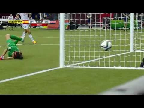 Spain Costa Rica 2015 Women's World Cup Full Game BBC FIFA Match