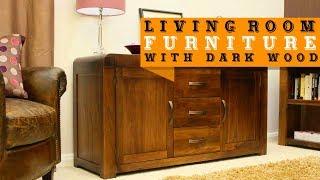24+ Living Room Furniture with Dark Wood ideas