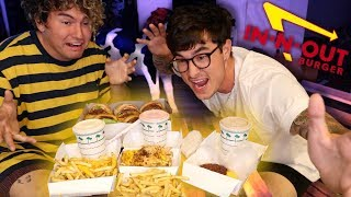 EATING IN N OUT ENTIRE MENU!! (MUKBANG)