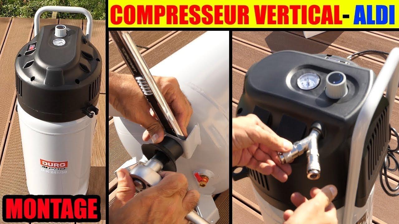 montage compresseur aldi duro vertical cuve 50 l sans huile
