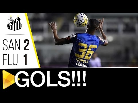Santos 2 x 1 Fluminense | GOLS | Brasileirão (05/10/16)