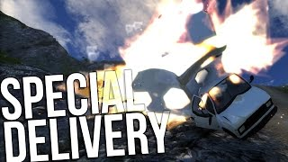 EXPLOSIVE CARGO - Hauling Cargo Down The Cliff 2.0 - BeamNG Drive Gameplay Highlights