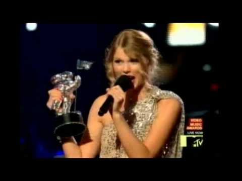 Actual Footage! Kanye West Taylor Swift 2009 VMA's