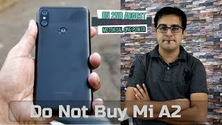Motorola One Power on 2nd August I Do Not Buy Mi A2 I Detail Specifications I Hindi