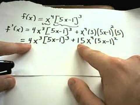 Derivatives - Product + Chain Rule + Factoring