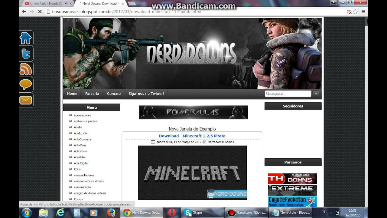 download do minecraft pirata nerds down