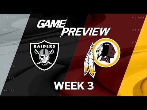 Oakland Raiders vs. Washington Redskins | Week 3 Game Preview | NFL Playbook