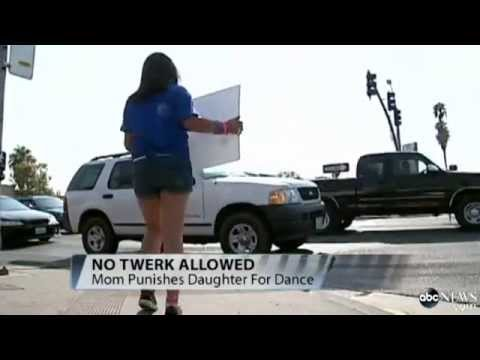 Girl Punished at Roadside Over School Dance Twerking