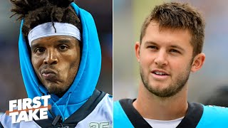Kyle Allen scares defenses more than Cam Newton - Damien Woody | First Take