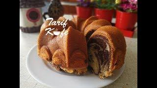 Toz Krem Şantili İki Renkli Kek