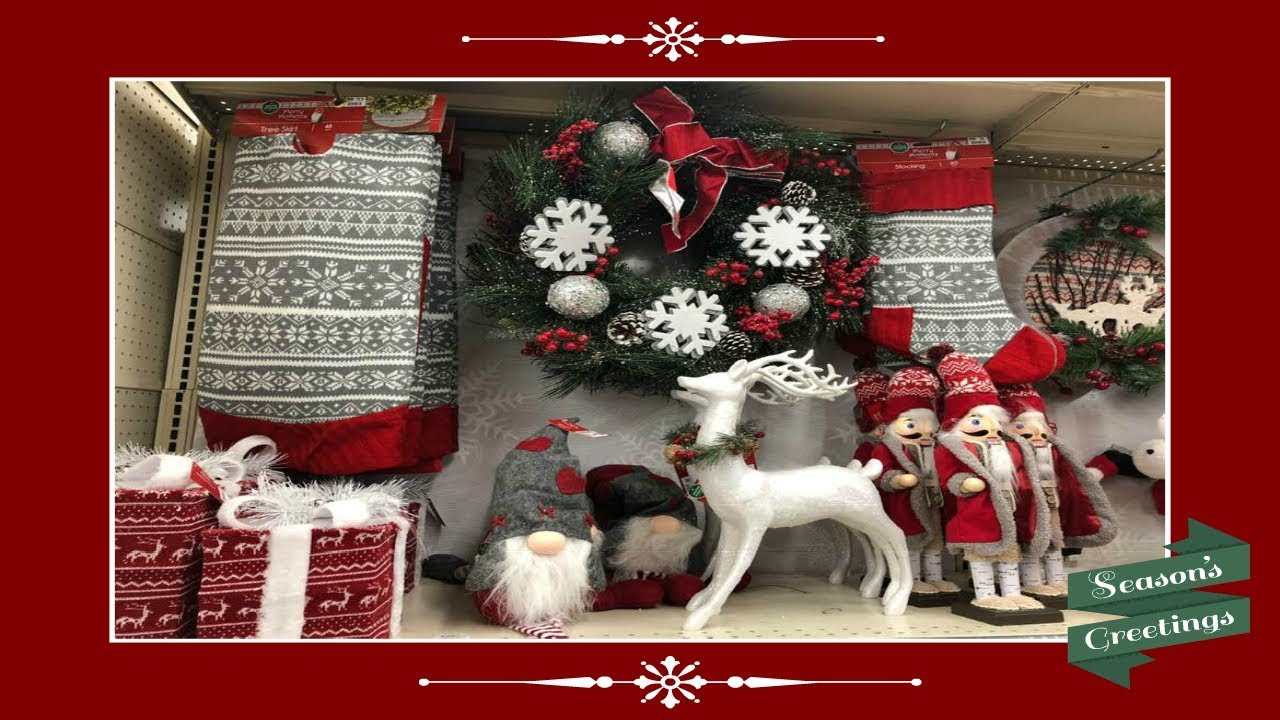 Shop With Me Christmas Home Decor At Big Lots 2018 Youtube