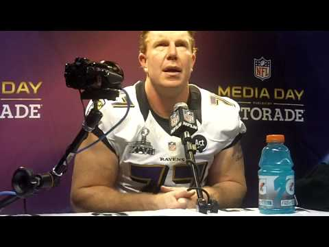 Super Bowl XLVII Media Day: Baltimore C Matt Birk