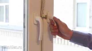 Ручка пластикового окна(Больше информации и видео по ремонту пластиковых окон на http://OknAlex.ru., 2013-04-10T06:22:41.000Z)