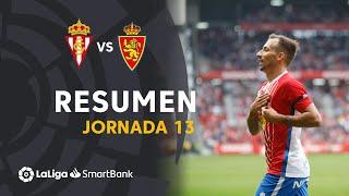 Resumen de Real Sporting vs Real Zaragoza (4-0)