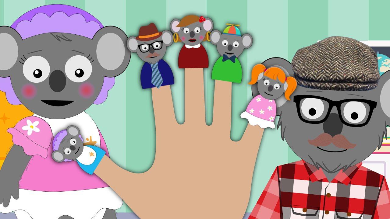Finger Family Song   Daddy Finger   Kids Songs & Nursery Rhymes   Koala!