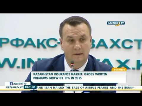 Kazakhstan insurance market gross written premiums grow by 11% in 2015 - Kazakh TV