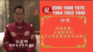 伍子明師傅2017丁酉火雞年生肖運程-肖龍