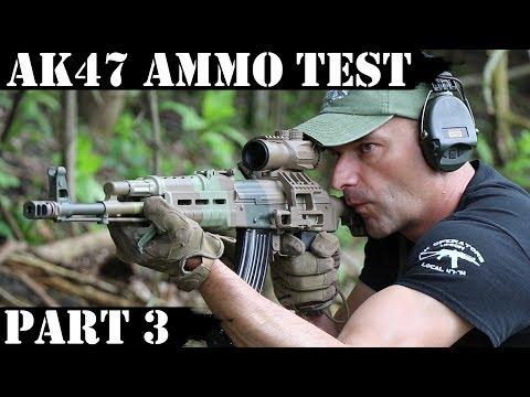 AK47 Ammo Test Part 3:  M43, Lapua, American Eagle & Hornandy