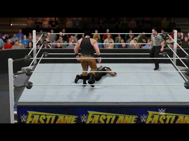 WWE: Braun Strowman vs Roman Reigns Fastlane 2017