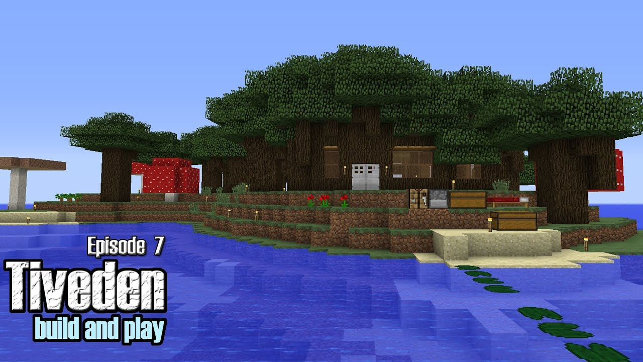 Minecraft Build Amp Play Tiveden 7 Roofed Forest Island