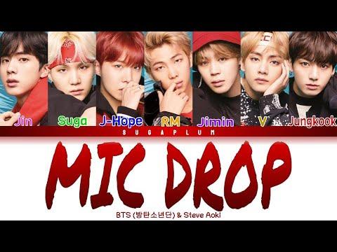 BTS(방탄소년단) - 'MIC DROP' (Steve Aoki Remix) Color Coded Lyrics (Han/Rom/Eng) indir