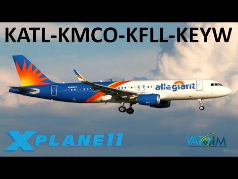 X-Plane 11 | Orlando, Fort Lauderdale & Key West! | N.A Hops | B739U A320U Crj-200 | VATSIM