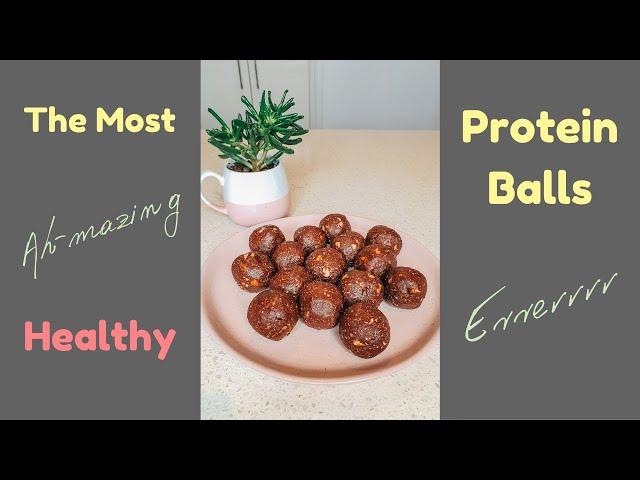 Actually The Most Delicious Protein Balls EVVVERRRR!