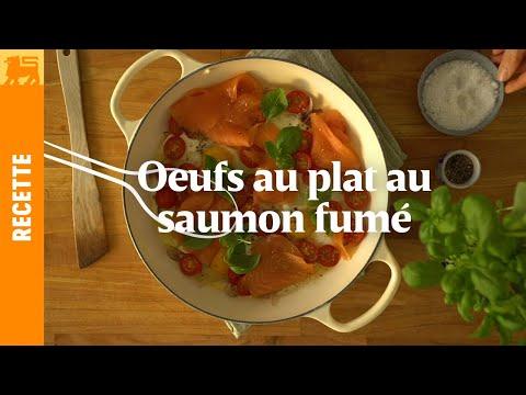 Oeufs au plat au saumon fumé