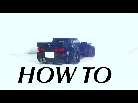HOW TO BUILD Lego Speed Champions Nissan Skyline R33 GTR MOC