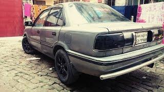 Toyota corolla ee90 custom exhaust / muffler HKS loud sound in Bangladesh