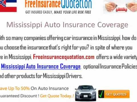 Mississippi Auto Insurance Company - Cheap Mississippi Car Insurance