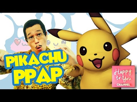 Thumbnail: Pokemon Pikachu PPAP Pen Pineapple Apple Pen - Funny Videos for Kids by Happy To You