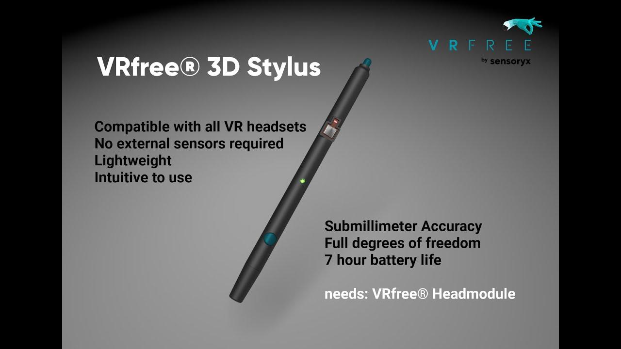 VRfree показали прототип своей VR-ручки/стилуса