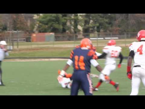 Thomas quarterback sack Edmondson/Douglass football Class 1A South finals 11/23/13