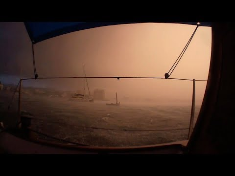 Big storm in Ibiza. Boats colliding and my anchor gets torn out!!! HS 2.7
