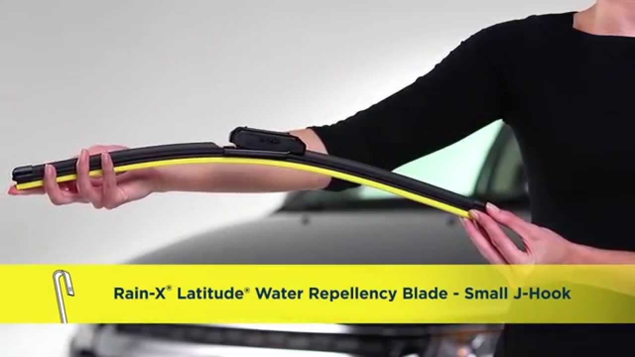 Rain-X® Latitude® Water Repellency Wiper Blade Installation - Small J-Hook  Arm