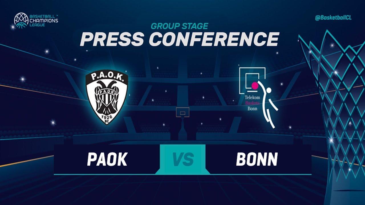 f22baa8118 PAOK v Telekom Baskets Bonn boxscore - Basketball Champions League 2018-19  - 16 October - Basketball Champions League 2018-19