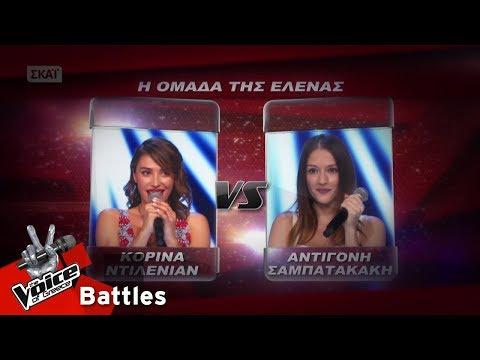 Κορίνα Ντιλενιάν vs Αντιγόνη Σαμπατακάκη - Μάντισσα | 1o Battle | The Voice of Greece