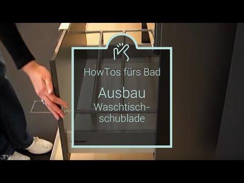Ausbau Waschtischschublade - YouTube